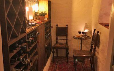 Oglaserade plattor i vinkällare