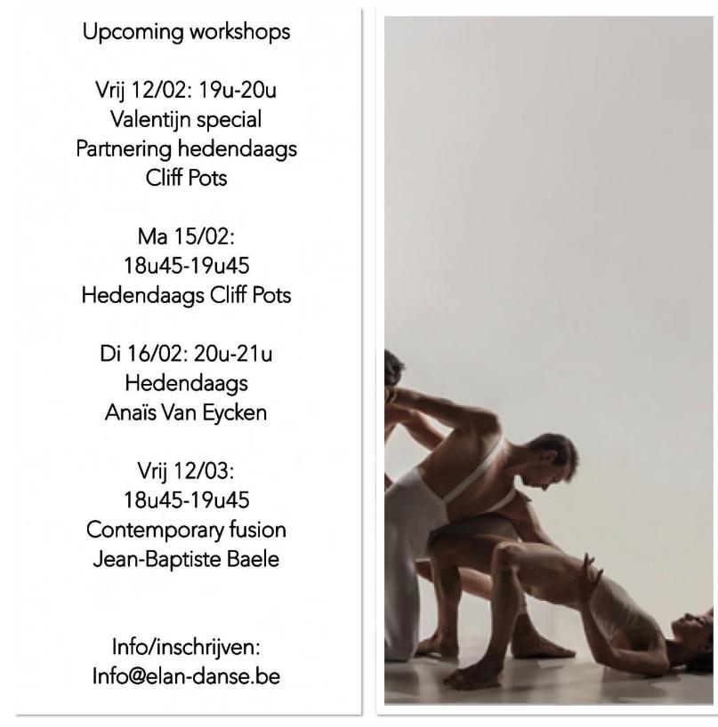 Nieuwe workshops februari en maart 2021