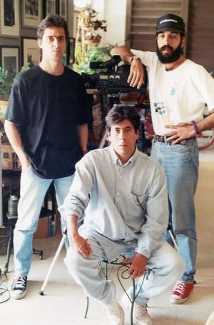 Con Ivan Oms y Jose Luis Llanes, integrantes de El Taller de los Inundados