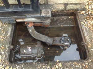 Flooded underground electric gate motor repairs