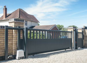 A sliding gate doesn't need space on your driveway