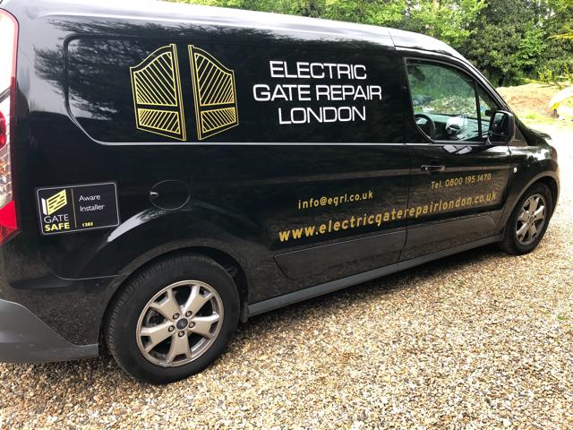 One of the Electric Gate Repair London vans