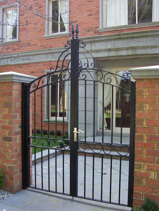 Ornate pedestrian gates