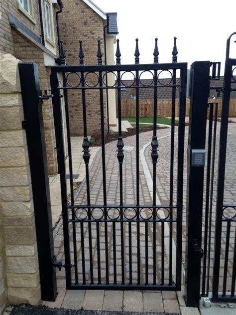 Ornate pedestrian gate