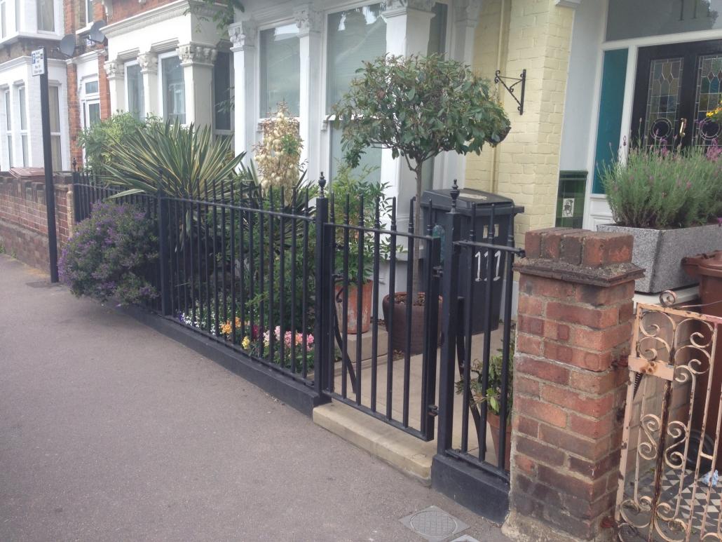 Iron gates and railings