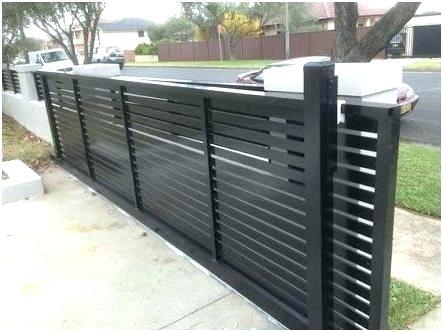 Modern aluminium sliding gate