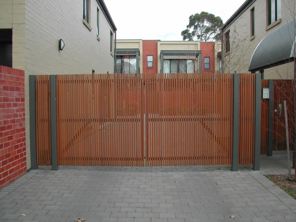 Wooden gates with gaps