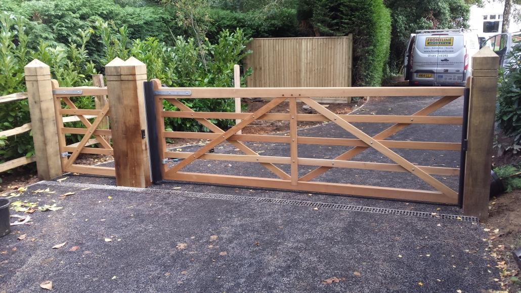 Wooden 5 bar farm style gate