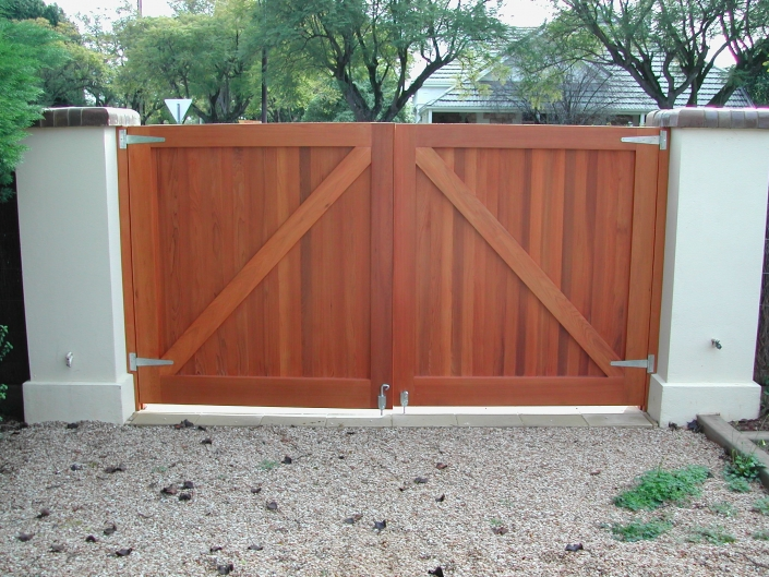 Traditional wooden gates