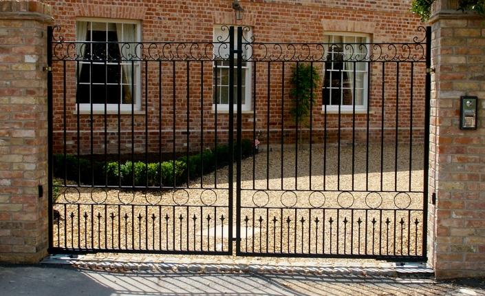 Delicate iron gates