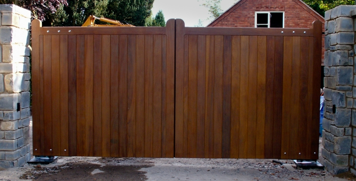 Traditional wooden swing gates