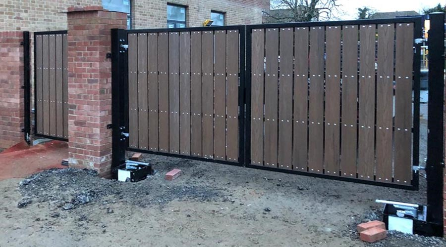 Underground gate openers are expensive to install installation