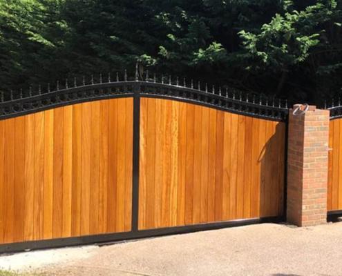 Wooden gate maintenance