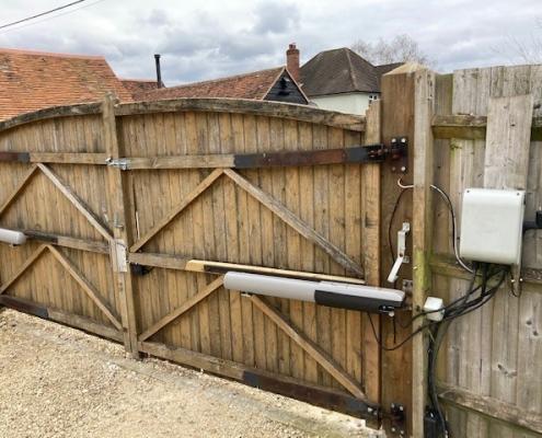 Original old wooden gates