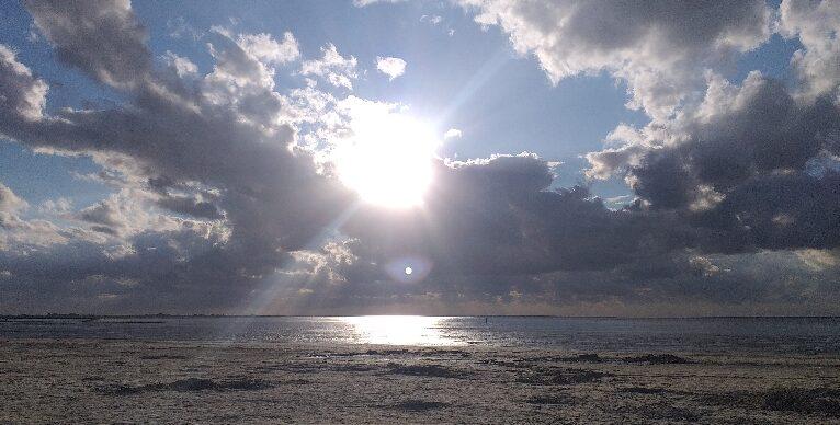 Nordseestrand in der Dämmerung