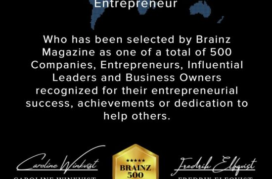 Brainz 500 Global Award