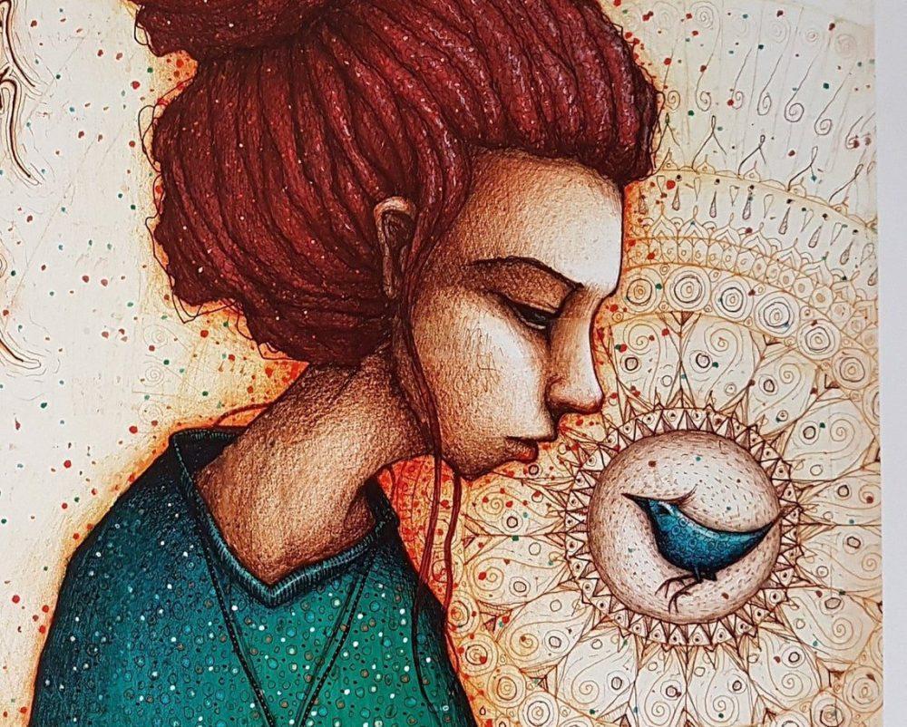 Al pájaro se le miró por ser pájaro y a la persona por ser persona, y pasa que a veces, el pájaro se vive de persona y la persona de pájaro, y dejan de verse