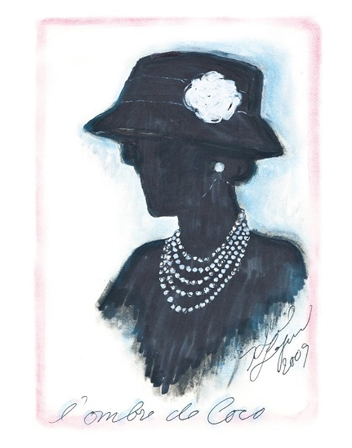 Sketch by Karl Lagerfeld, 2009
