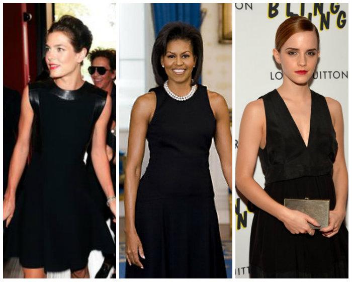 Charlotte Casiraghi 2014, Michelle Obama 2009, Emma Watson 2013