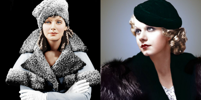 Pelliccia e cappello_ stile1930s