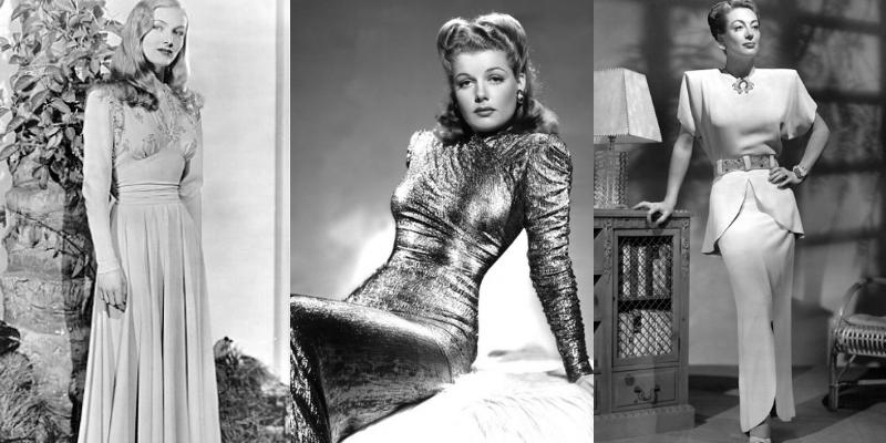 I vestiti da sera negli anni '40 sono sobri