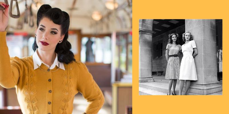 due esempi di moda femminle anni '40