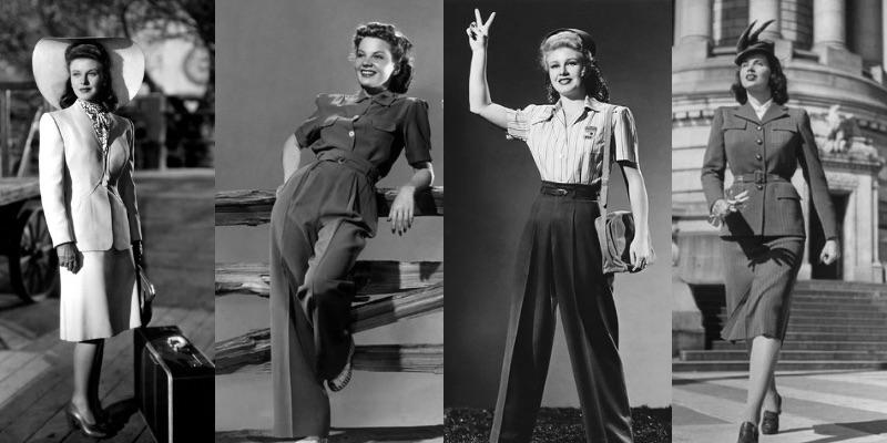 ecco i tailleur e i pantaloni di moda negli anni '40