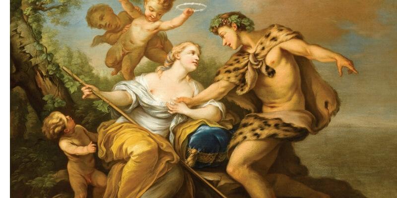 Bacco e arianna, dipinto dell'olandese Carl van Loo