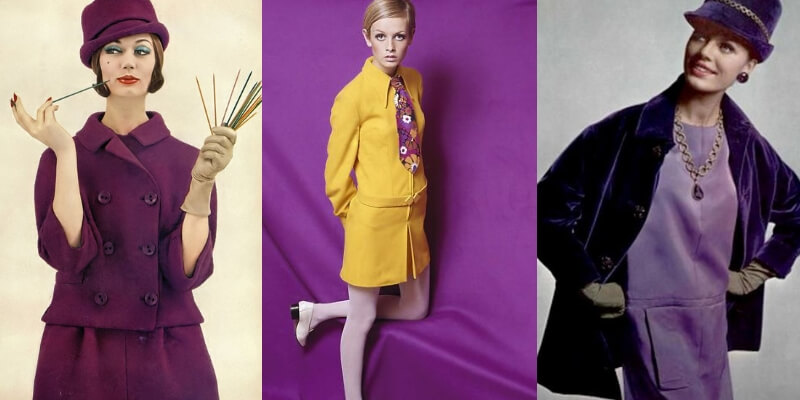 tre look degli anni 60 dai colori squillanti