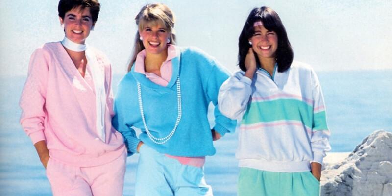 tre modelle nella foto di un catalogo di abbigliamento sportivo