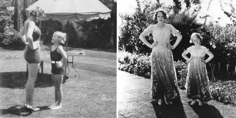 marlene dietrich posa con la figlia maria sieber negli anni '30