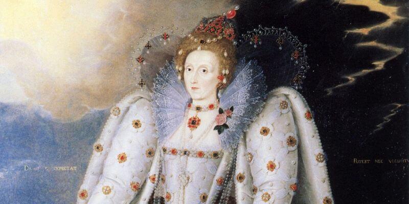 Un ritratto della regina Elisabetta I d'Inghilterra