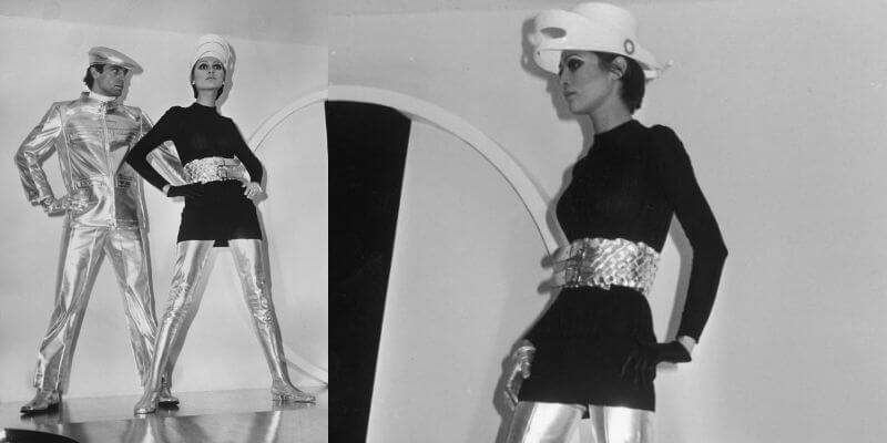 la minigonna con maxi stivali di courrege