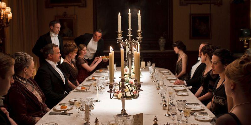 cena al lume di candela downton abbey