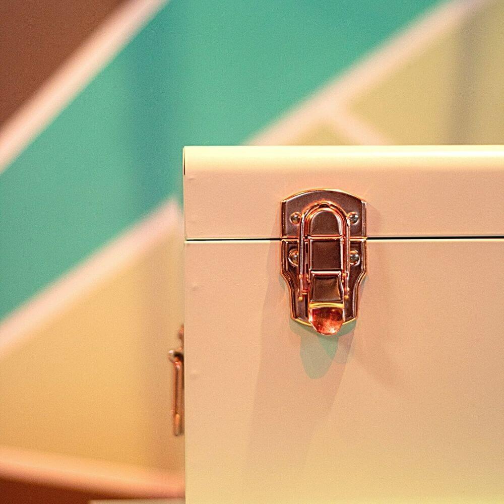 il dettaglio della chiusura di una valigia