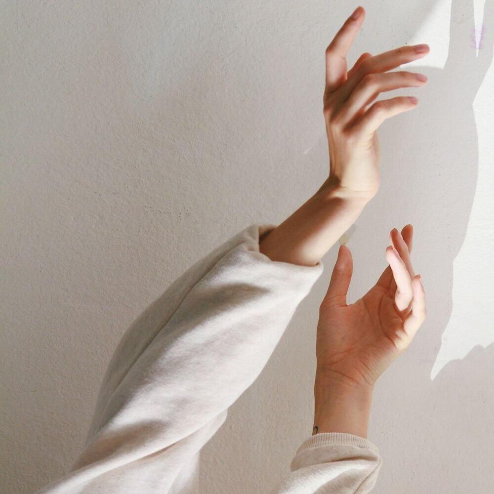due mani che mostrano la gestualità