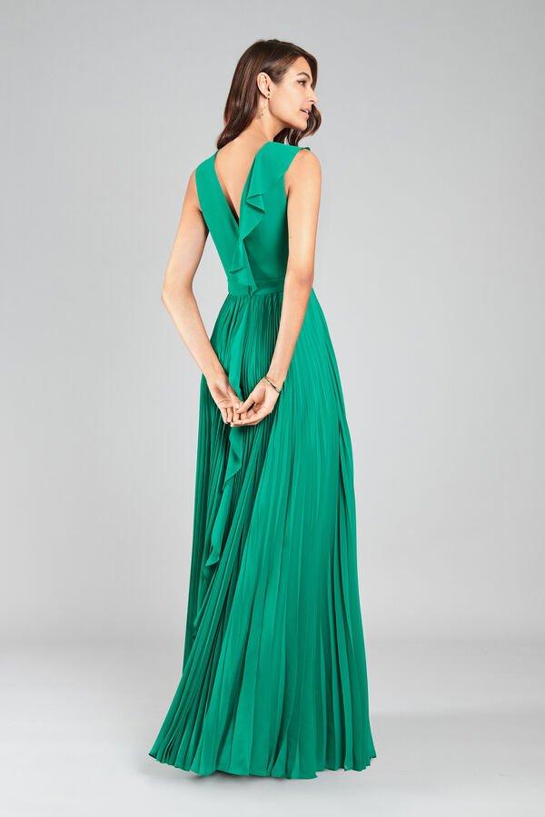 abito lungo per una cerimonia vestito verde