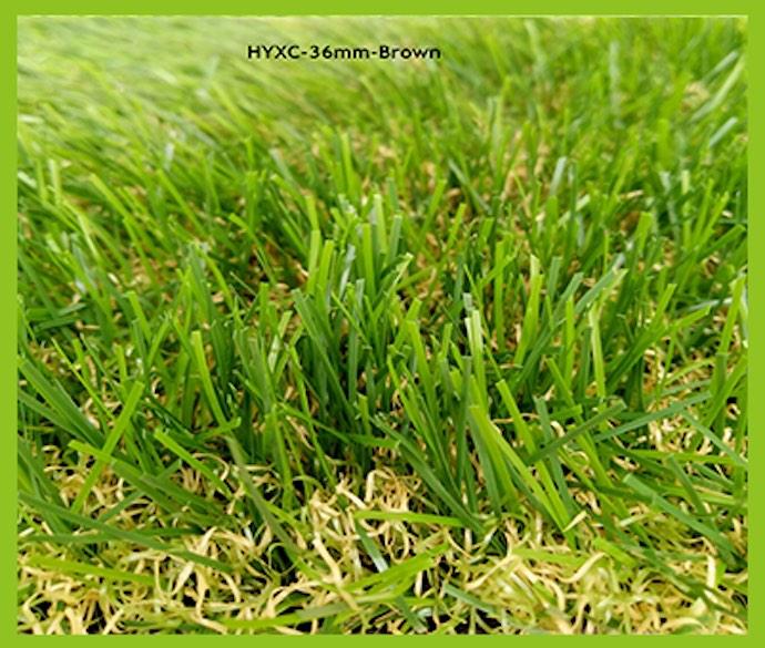 36mm Brown Artificial Grass