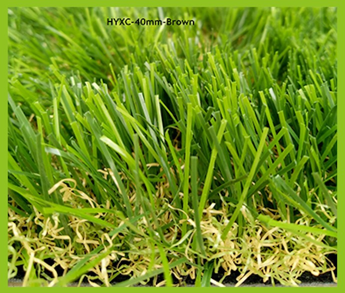 40MM Brown Artificial Grass
