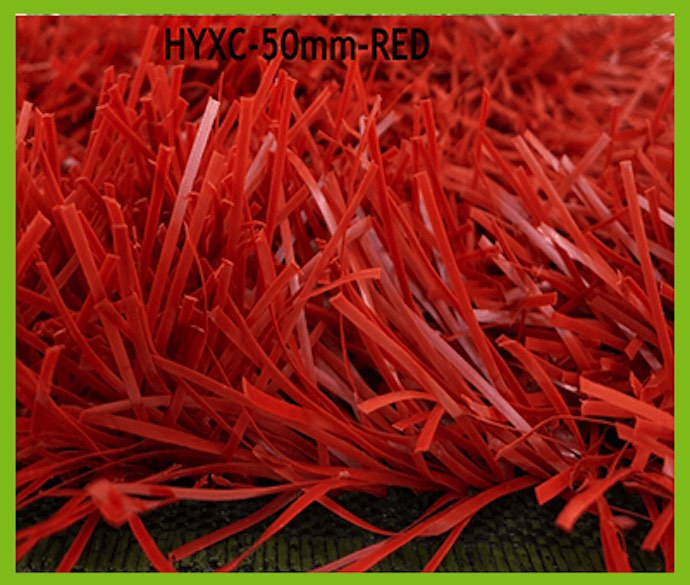 50mm Red Artificial Grass