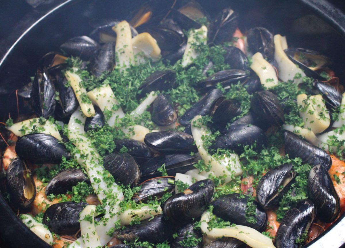 Smoked Seafood Paella