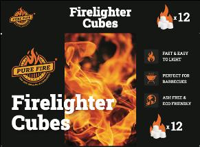 Paraffin lighter cubes