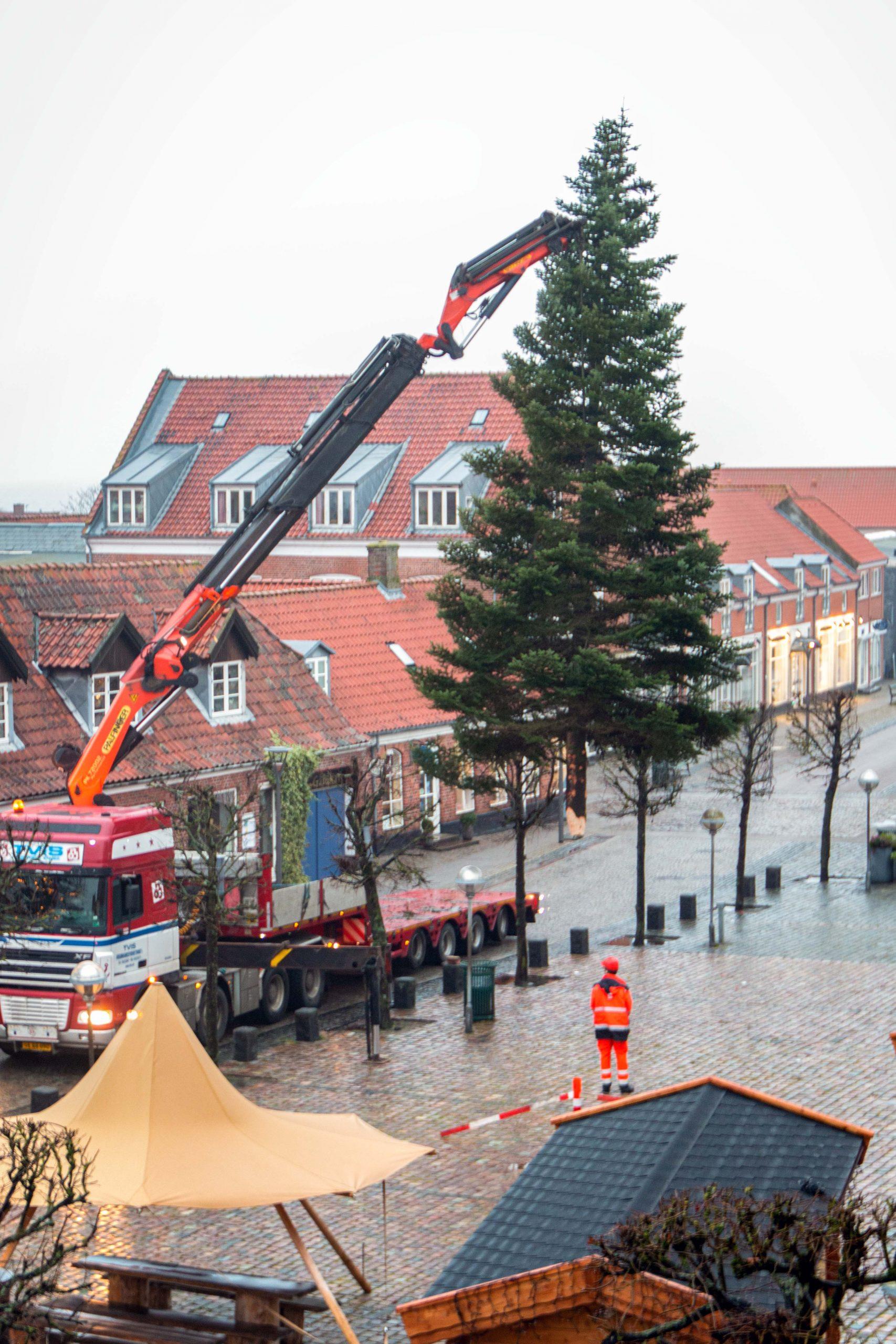 Juletræ på Ringkøbing Torv