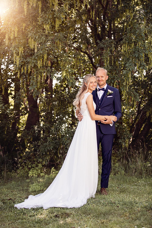 Bröllopsporträtt på herr och fru