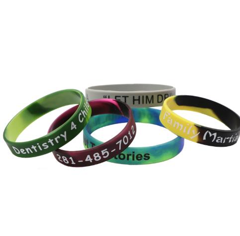 Multi Colour Silicone Wristband