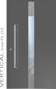 Haustür Vertical Inox PL-03