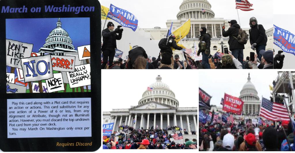 """Nuova Profezia carta illuminati """"March on Washington"""""""