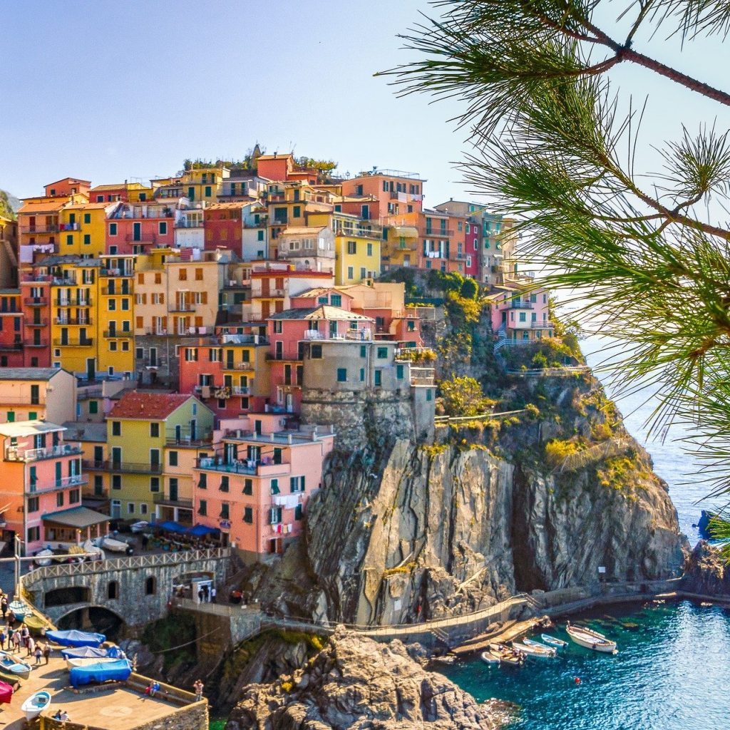 The beautiful view of 5 Terre in Liguria