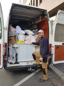 Entrümpelung durch das Entrümplerschwadron in Mainz