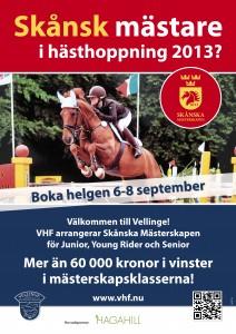 Skånska Mästerskapen hästhoppning_VHF_affisch_by epafi